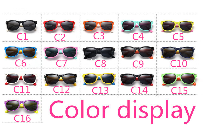 UCOOL Brand Nail Silicone Safety Software Polarized Flexible Kids Sunglasses Child Safety Coating Sun Glasses UV400 Cats Eyewear Shades Infant oculos de sol (2)