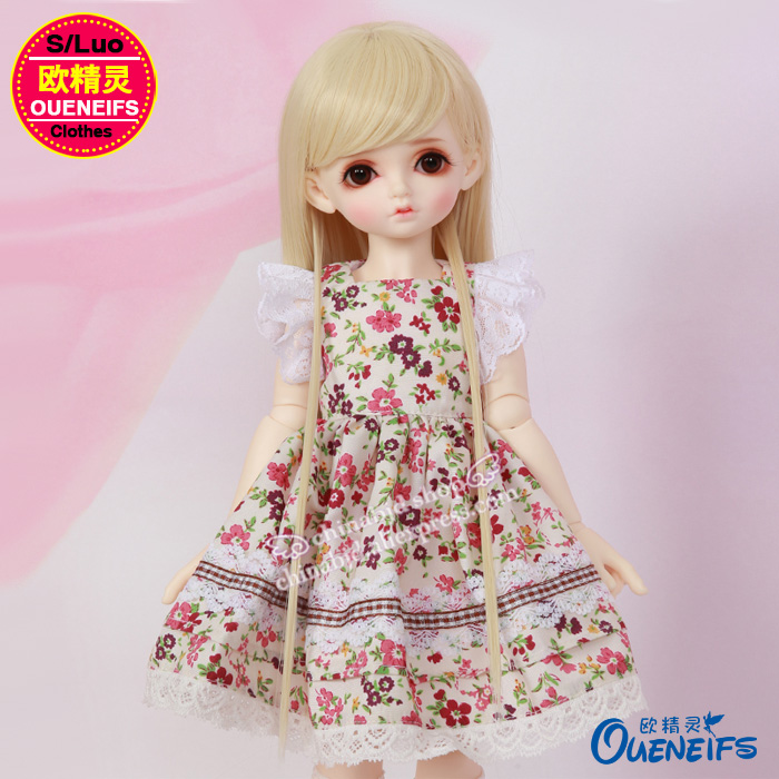 OUENEIFS free shipping Customization original skirt Floral dress lace edge Accessorie 1/4 bjd sd clothes no doll or wig YF4-73 handsome grey woolen coat belt for bjd 1 3 sd10 sd13 sd17 uncle ssdf sd luts dod dz as doll clothes cmb107