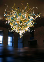 Free Shipping High Ceiling Hot Seller Chihuly Style Chain Hanging Chandelier