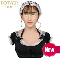 Roanyer Mary the maid silicone realistic female for male crossdresser latex transgender breast forms fake boobs fetish pechos