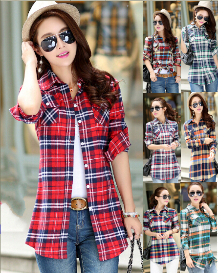 Aliexpress.com : Buy Hot Selling ! Casual Womens Flannel Shirts ...