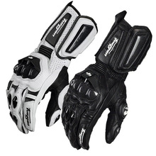 Motorcycle Long section Gloves Carbon fiber FOR Furygan AFS10 Genuine Leather Gloves Racing Motorbike Motocross  guantes moto