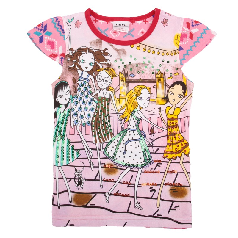 Camisa das meninas t de roupas de menina linda camiseta nova marca crianças  menina roupas de algodão o-pescoço roupas meninas 2016 nova moda K3870 f26adc93384