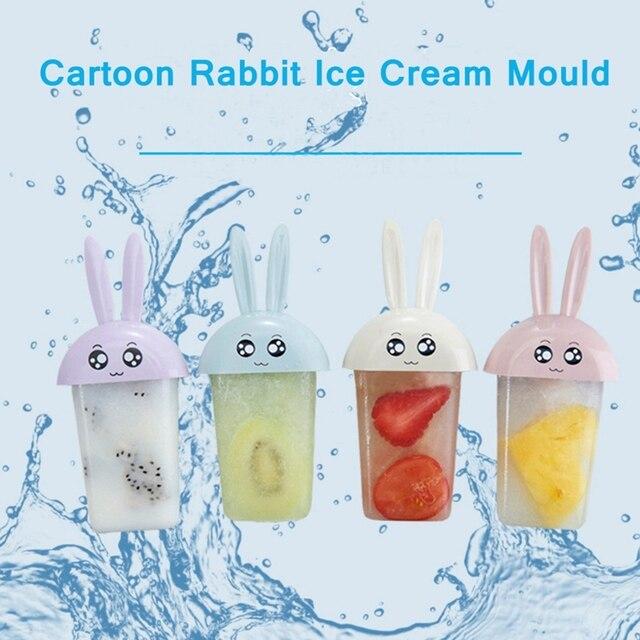 2017 New Hot Sale Summer Cartoon Originality 4 Cases Cute Small White  Rabbit Style DIY Ice