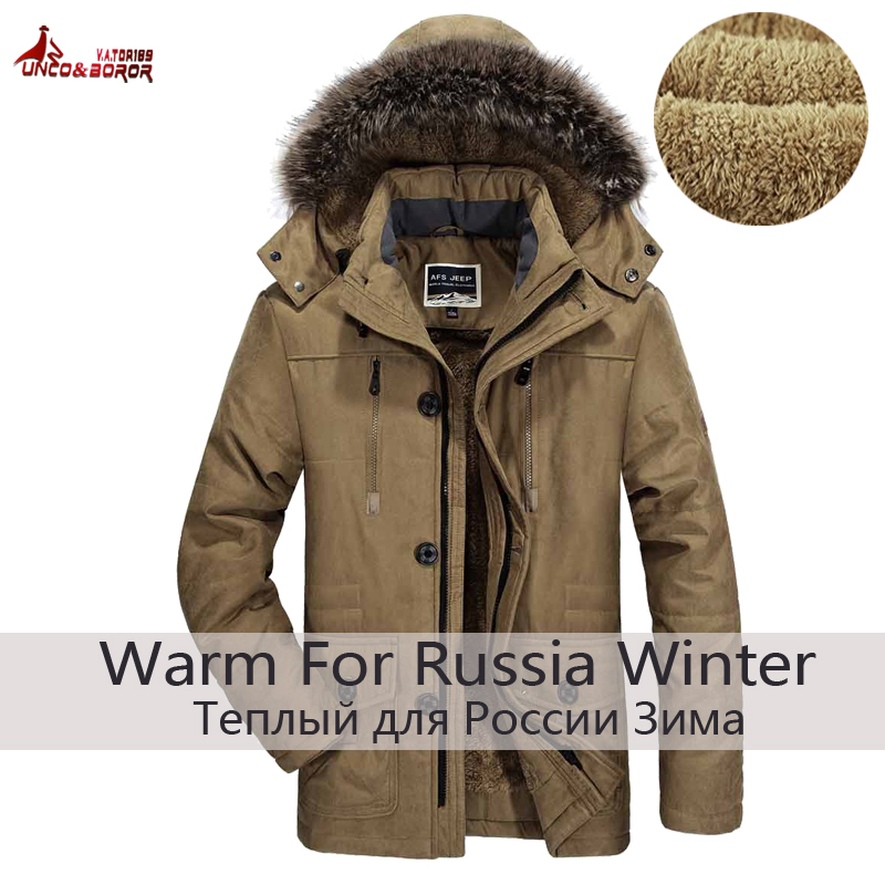 UNCO&BOROR plus size 5XL 6XL new brand warm winter jackets men Thicken Long Cotton Padded fleece Down parka coat men clothing