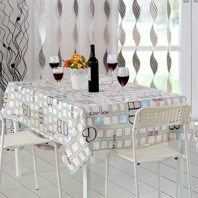 Fudiya 14 Optional Styles Floral Pattern Tablecloth Thickening Polyester  Nappe Simple Table Cover Table Cloth Custom