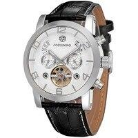 Forsining Men's Tourbillon Calendar Brand Automatic Movement Genuine Leather Strap Best Sales Wrist watches