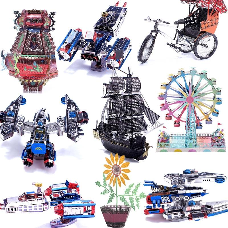 Color Printed 3D Metal Puzzles Tank Gun Model DIY Laser Cut Manual Jigsaw Kits Educational Toys Adults Children Christmas Gift