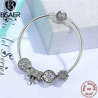 Authentic 925 Sterling Silver Original Beads Charm Bracelet Bangle Knot Heart Beads Charms Silver Fine Jewelry