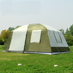 Image 3 - Hoge Kwaliteit 10 Personen Double Layer 2 Kamers 1 Hal Grote Outdoor Familie Party Camping Tent In Goede Kwaliteit Met grote Ruimte