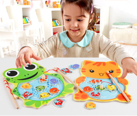 1 Piece Baby Wooden Toys Magnetic Fishing Game Jigsaw Puzzle Board 3D Jigsaw Puzzle Children Education