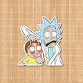 Western animation rick and morty Notebook/refrigerator/skateboard/trolley case/backpack/Tables/book sticker PVC sticker