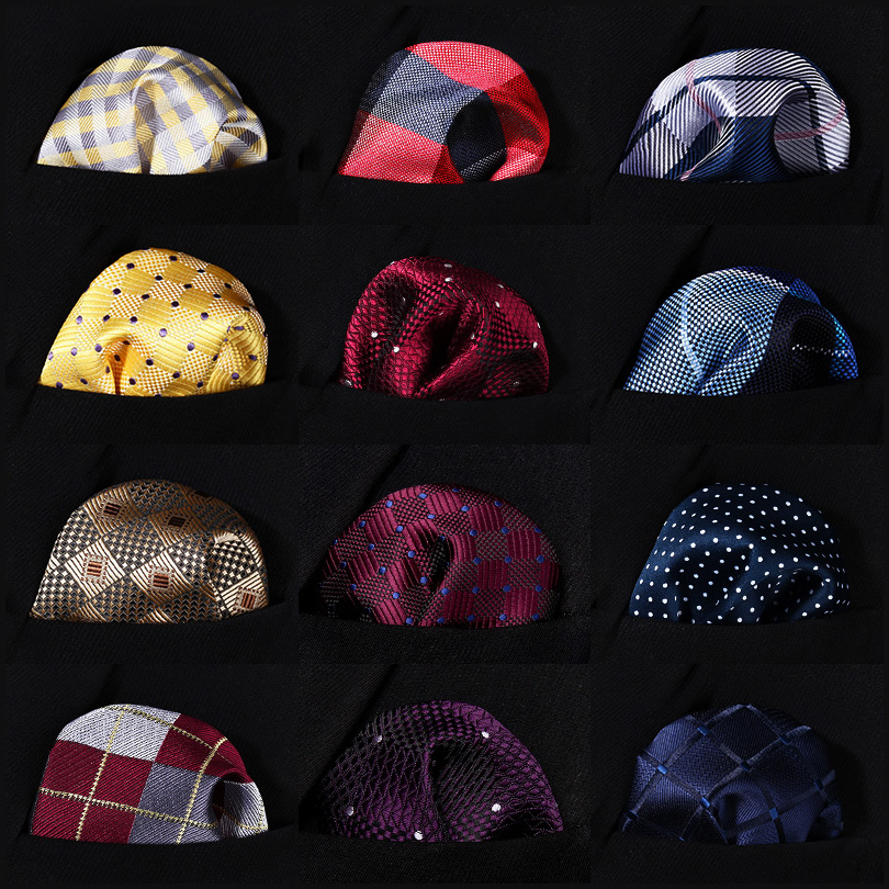 Polka Dot Check Men Silk Pocket Square Hanky Wedding Party Handkerchief #B9 Pocket Square Classic Party Wedding
