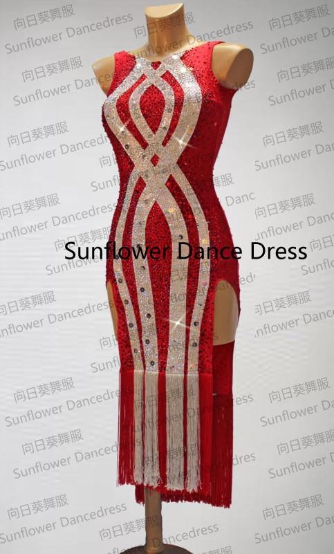 Nouvelle Arrivée, Robe De Danse Latine Rumba Jive Chacha, robe de bal, usage de danse, robe latine, tango salsa samba De Tournesol Danc Robe
