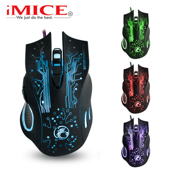 цена на 2400 DPI USB Wired Game Gaming Mouse Gamer For PC Computer Laptop 6 Buttons LED Optical Game Mouse Ergonomic Mice X9 Mause