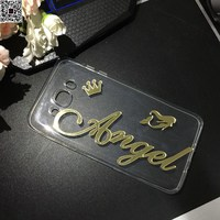Custom DIY Name Case For Samsung Galaxy A3 A310 A5 A510 A7 A8 A9 2016 2017