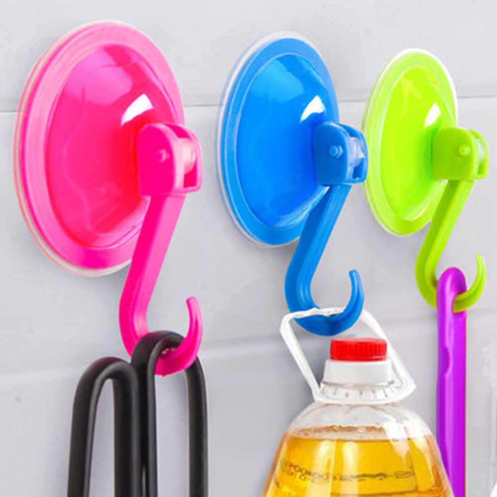 Негабаритных мощная вакуумная прочная прозрачная присоска настенные крючки бесплатная бесшовные ногтей крючок вешалка для Кухня Ванная комната # K22