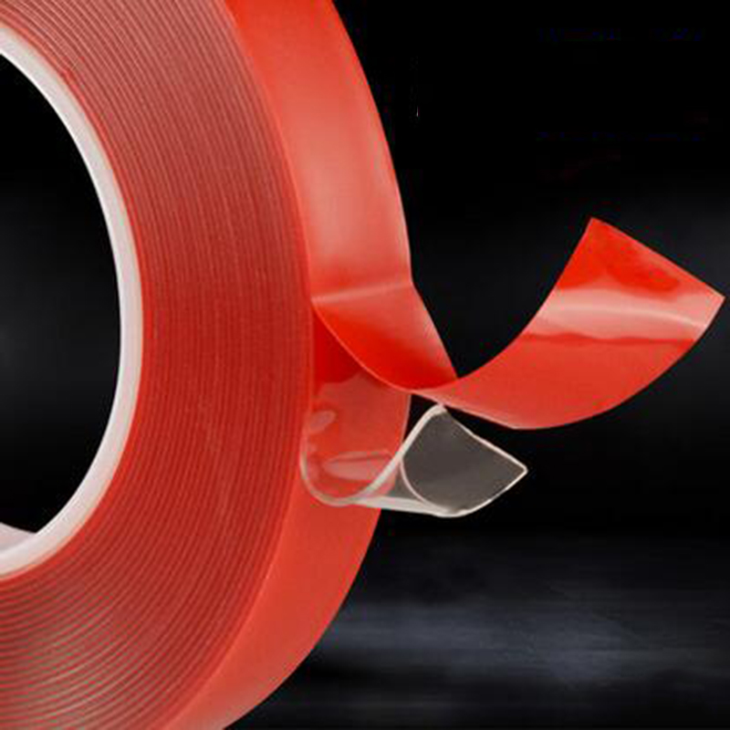 Office & School Supplies 4mm*25m Strong Acrylic Adhesive Pet Red Film Clear Double Side Tape No Trace For Phone Tablet Lcd Screen Glass