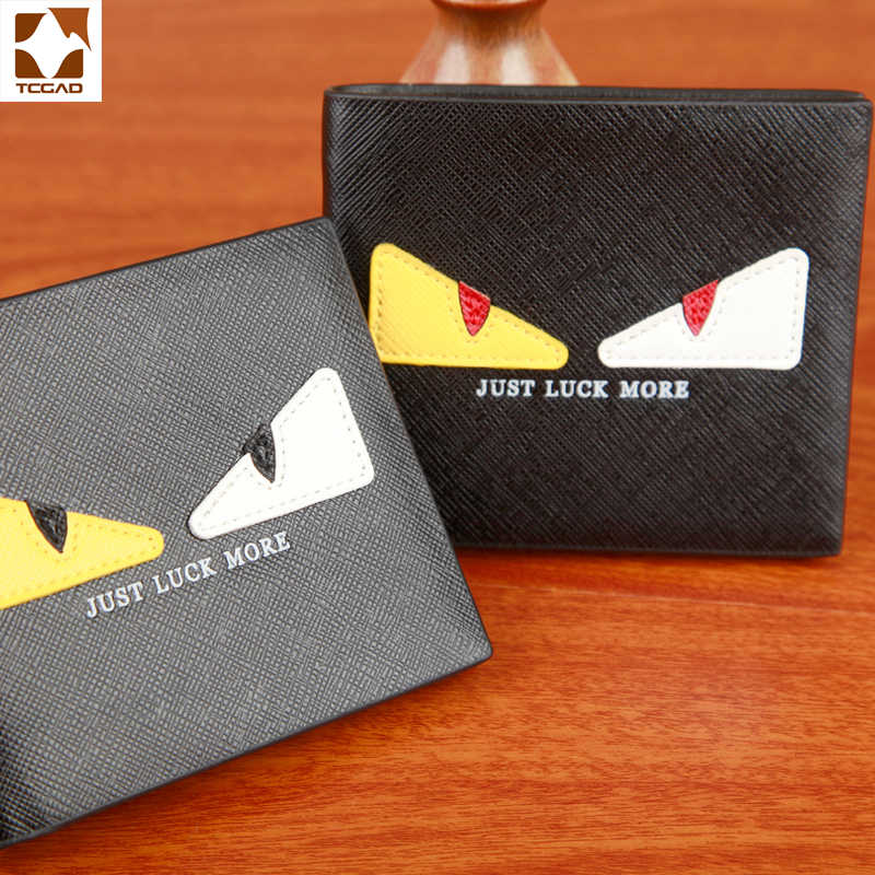 3bff0d851d8f9 ... TCGAD Modi Eyes Anime wallet small Men and women purse Solid Thin Wallets  Card holder photo ...