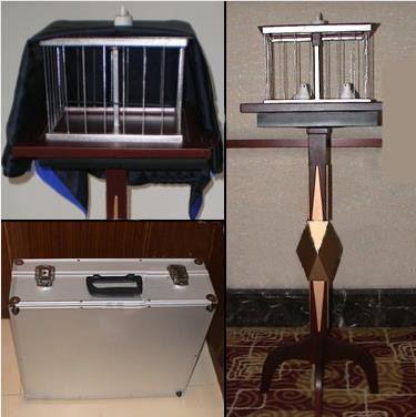Floating Table with Appearing Bird Cage Table - Deluxe, Mult-Function,Dove Magic Tricks,Illusions,Manipulation Stage,Mentalism light heavy box stage magic floating table close up illusions accessories mentalism magic trick gimmick