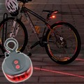 5pc/lot 5 LED 2 Laser Cycling Bicycle Bike Tail Light Safety Warning Flashing Alarm Lamp