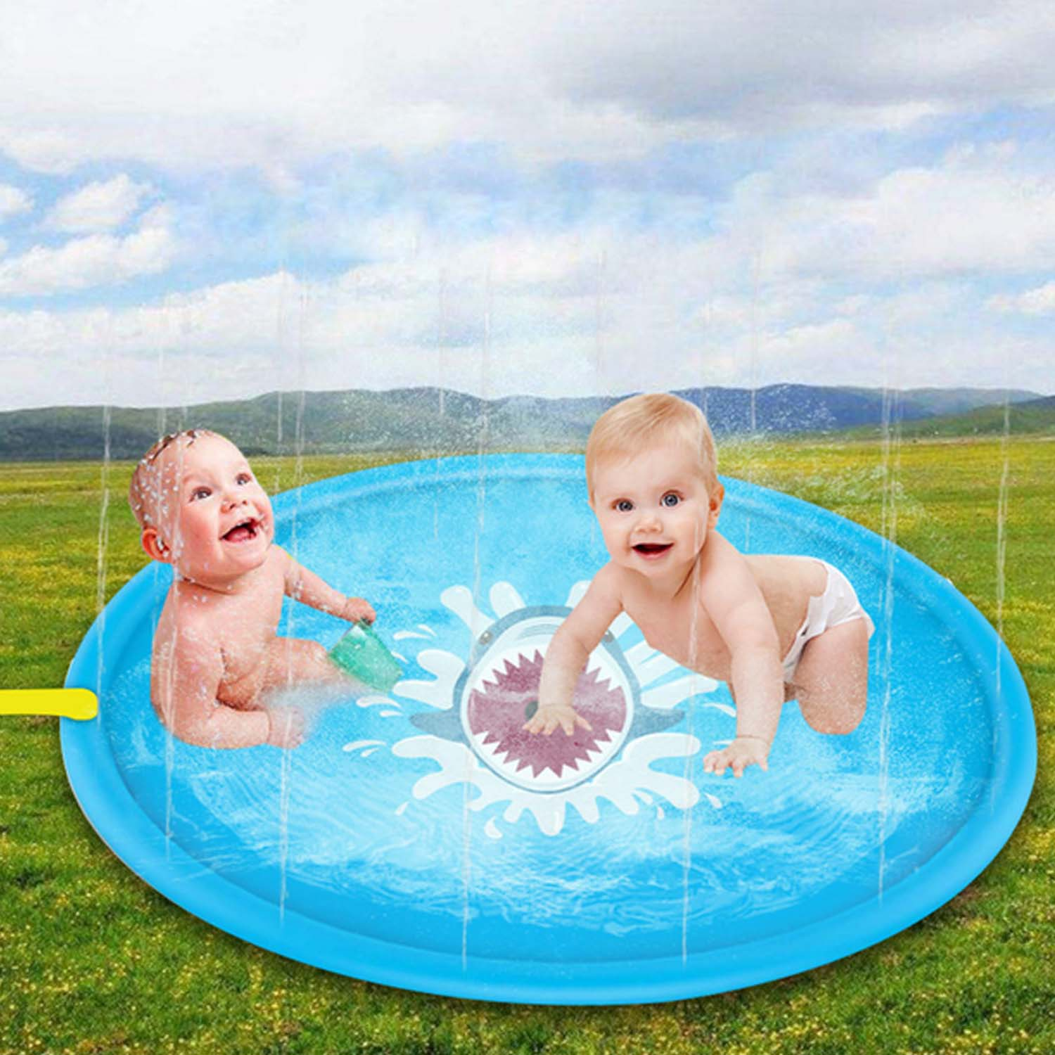 Besegad 100cm Inflatable Water Splash Sprinkle Play Mat Summer Outdoor Sprinkler Water Game Toy For Children Kids Water Play Mat