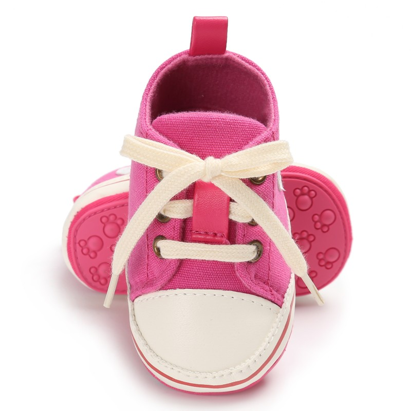 Tennis Baby Shoes Toddler Infant print Canvas first walkers Lace up Baby Girls Boys Sneakers Prewalkers 0 18M in First Walkers from Mother Kids