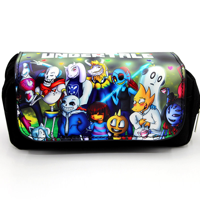 Cartoon Game Undertale Pencil Case Makeup Bag Zipper Pouch Students Stationery Pouch(China)