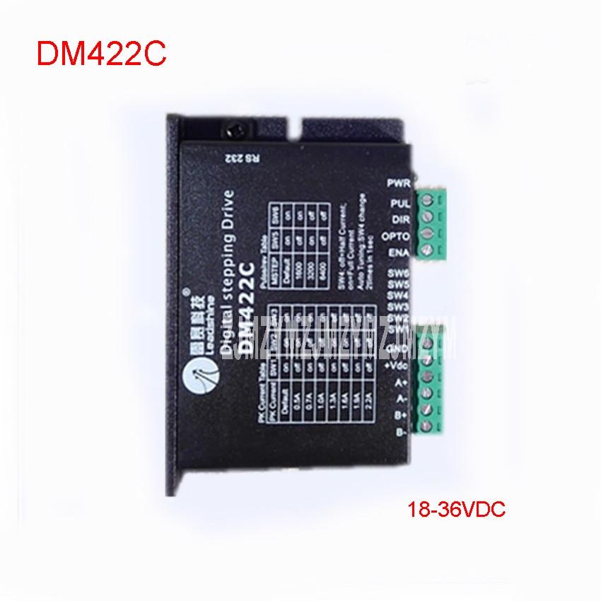 DM442C Step Driver New DSP Digital 57 Stepper Motor Driver Kit 18-36VDC /  2.2A Motor Driver Subdivision range 200-51200PPR umbra 313265 442