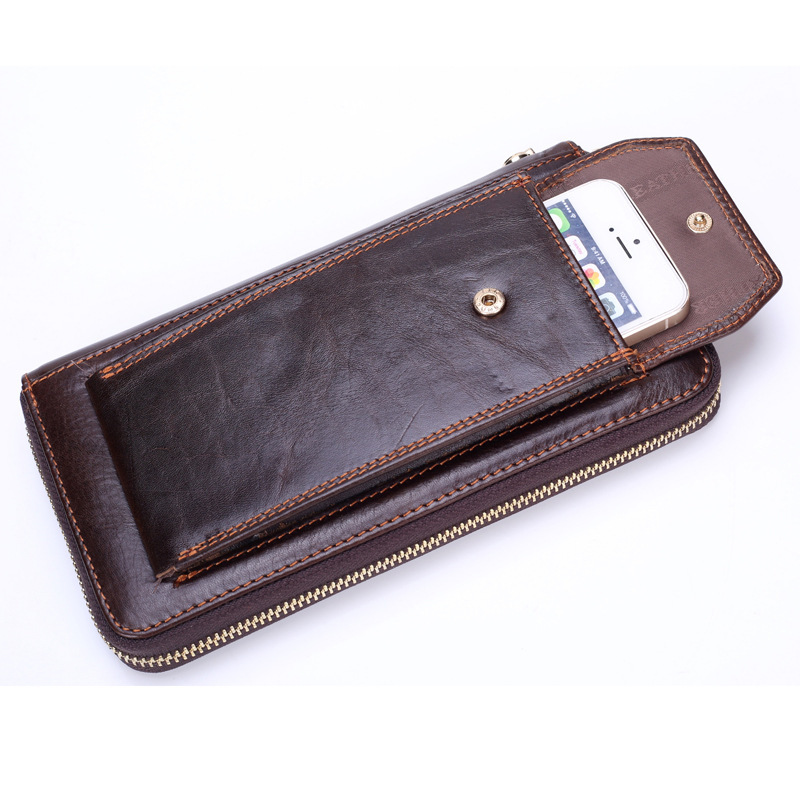 Brand Business Wallet Men Genuine Leather Man Clutch Handy Bag Luxury Standard Wallets Male Purse Cellphone Bag Card Holder non waterproof led light 5050 rgb led strip 5m 10m fita de led tape diode feed tiras lampada dc 12v remote control power adapter