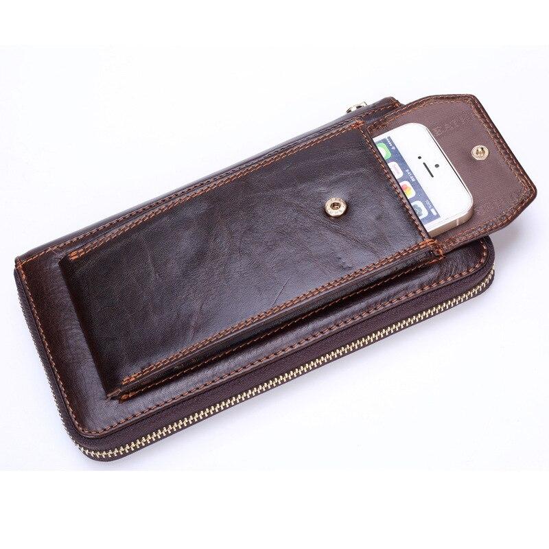 grossiste 5d688 8e209 € 17.27 42% de réduction|Portefeuille d'affaires de marque hommes en cuir  véritable homme embrayage sac pratique portefeuilles Standard de luxe homme  ...