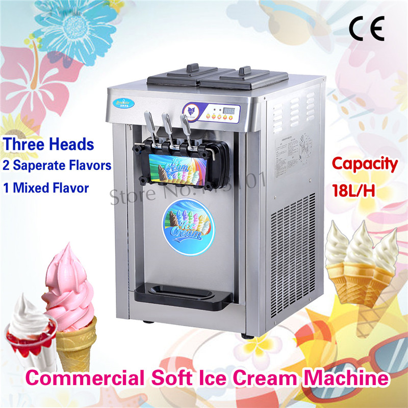 Commercial Soft Ice Cream Machine Stainless Steel / Colorful Body 220V Digital Control High Quality Brand New edtid new high quality small commercial ice machine household ice machine tea milk shop