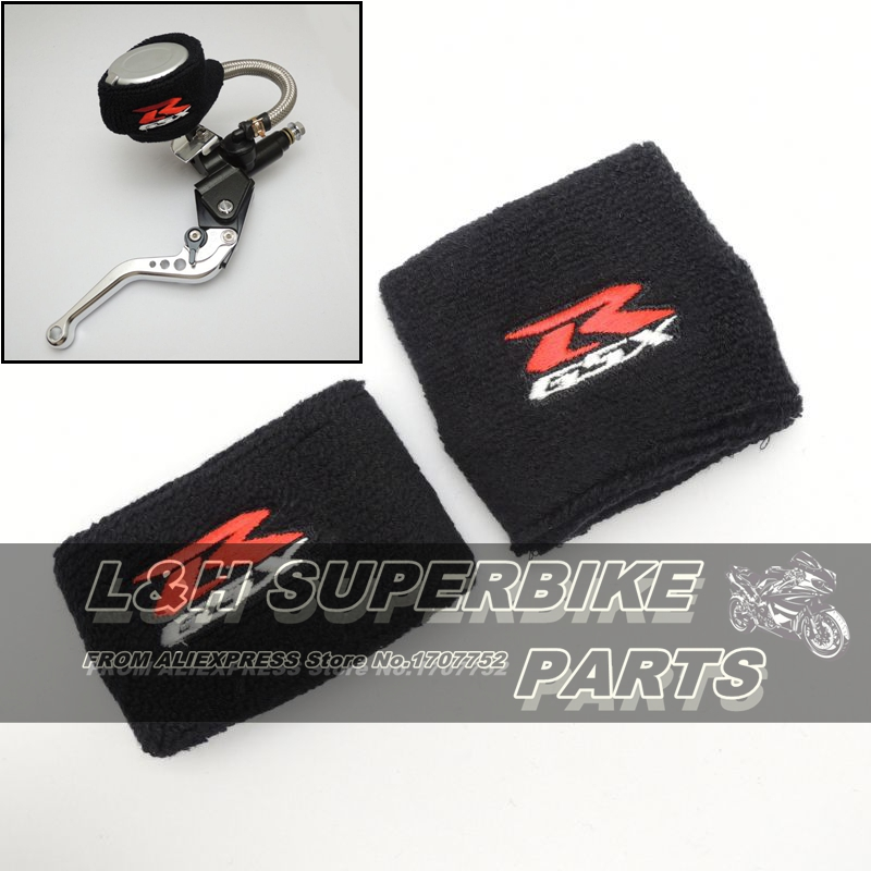 Brake Reservoir Covers : Pair motorcycle brake fluid reservoir socks gsxr