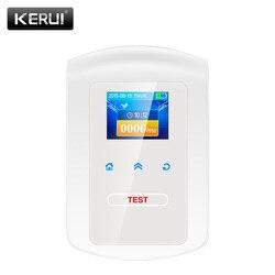 KERUI GD23 المنزل المطبخ الأمن جهاز الكشف عن الغاز القابل للاحتراق LPG LNG الفحم الغاز الطبيعي تسرب ساعة تنبيه الاستشعار مع تحذير الصوت
