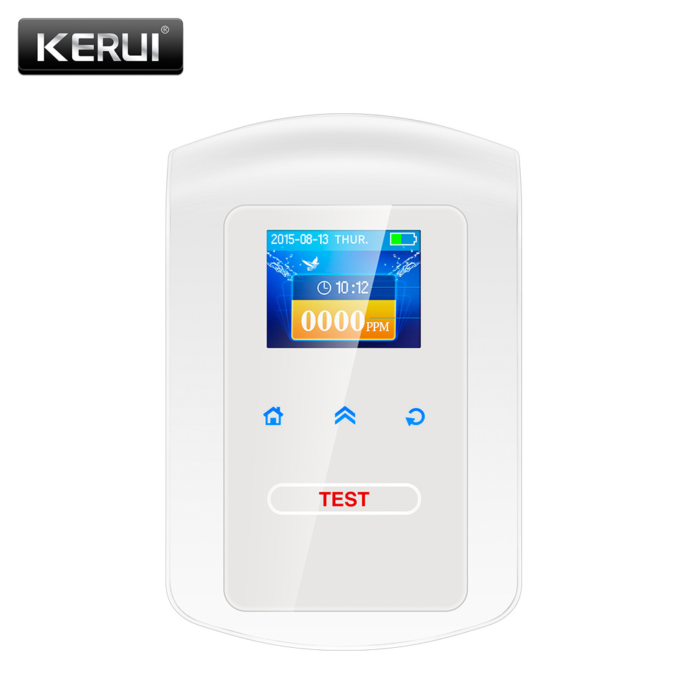 KERUI GD23 Αρχική Ασφάλεια κουζίνας Ανιχνευτής καυσαερίων αερίου LPG Καυστήρας LNG Φυσικός αέρας Ρολόι ξυπνητήρι με προειδοποίηση φωνής
