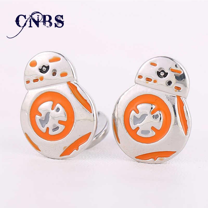 Star Wars запонки Пробуждение силы BB8 BB-8 r2d2 Droid робот фигурку штурмовика рубашка бренд манжеты Пуговицы Jewelry ys10946