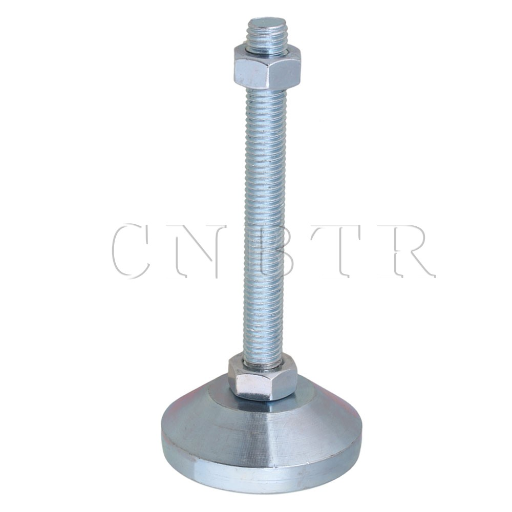 60mm Dia Carbon Steel M12x100mm Adjustable Furniture Glide Leveling Feet CNBTR