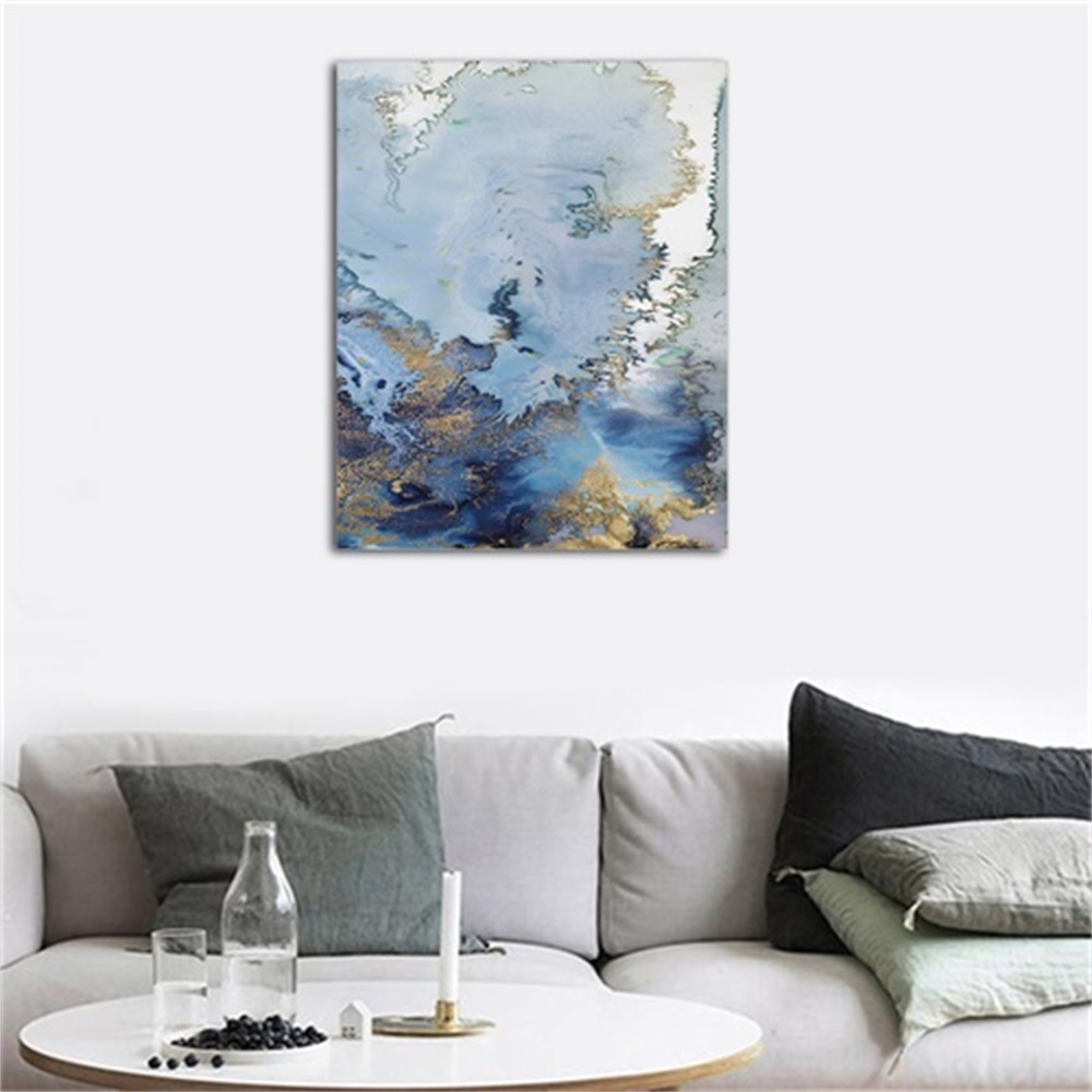 Laeacco Canvas Painting Calligraphy Abstract Watercolor Posters and Prints Artwork Wall Pictures for Living Room Home Decoration in Painting Calligraphy from Home Garden