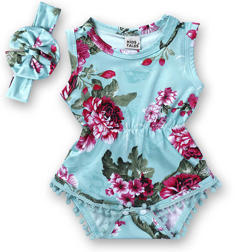 33050dfef6b3 Detail Feedback Questions about Vintage Floral Baby Romper ...