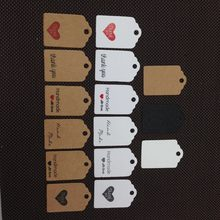 100 pcs 3x2cm variety of style kraft paper label wedding notes DIY handmade mini cute small elevator gift price card(China)