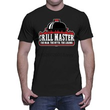 Grill Master- BBQ barbecue Dad Father Fathers Day Grandpa Pops Mens T-Shirt(China)