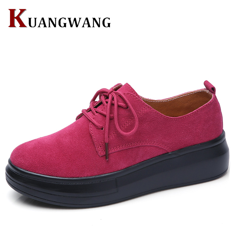 Women Flat Platform Loafers Ladies Elegant Suede Moccasins Shoes Woman Slip On Moccasin Women's Casual Shoes zapatos mujer Flats akexiya casual women loafers platform breathable slip on flats shoes woman floral lace ladies flat canvas shoes size plus 35 43