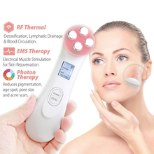 цена на Beauty Skin Facial Wrinkle Removal 5 in 1 Multifunctional Facial Beauty Instrument Firming Face Massager LED Photon Skin Care