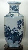 Изысканные старый фарфора роспись Керамика фарфоровые вазы классический керамические украшения домашнего декора Вазы Цяньлун знак