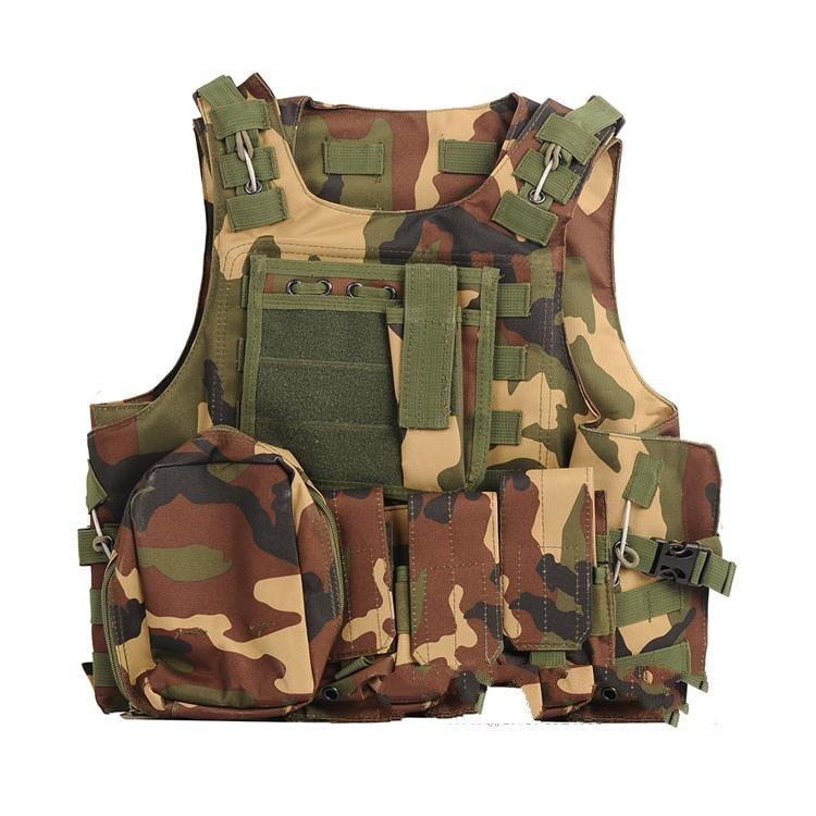 ФОТО Army Outdoor Specialties Camouflage Amphibious Tactics Vest Men Combat Vest Stab - resistant Clothing Body Armor CS Equipment