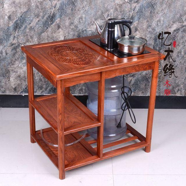 Mahagoni Mobel Kleine Tee Warenkorb Afrikanische Birne Holz