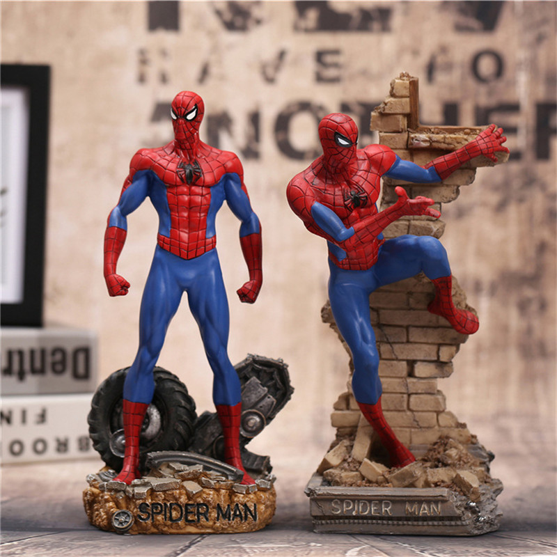 Spiderman Action Figures Toy 30cm Super Hero Brinquedos Anime Spider Man Collectible Model Toys As Christmas Gift N023 26cm crazy toys 16th super hero wolverine pvc action figure collectible model toy christmas gift halloween gift