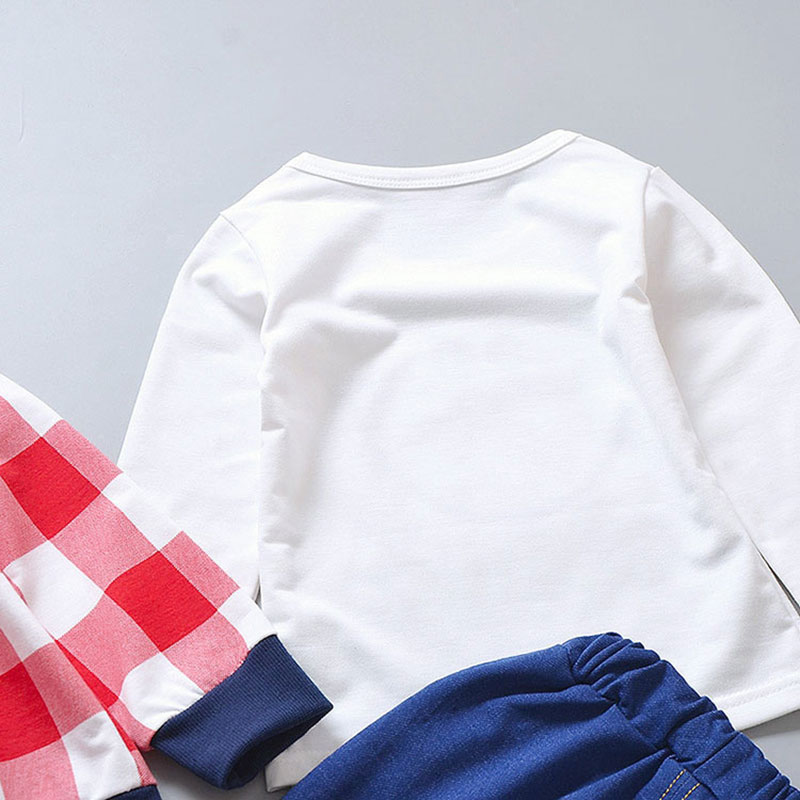 baby clothes boy outfits set outerwear + tops t-shirts + jean pants Baseball sports suit for babies newborn suit baby cloth sets