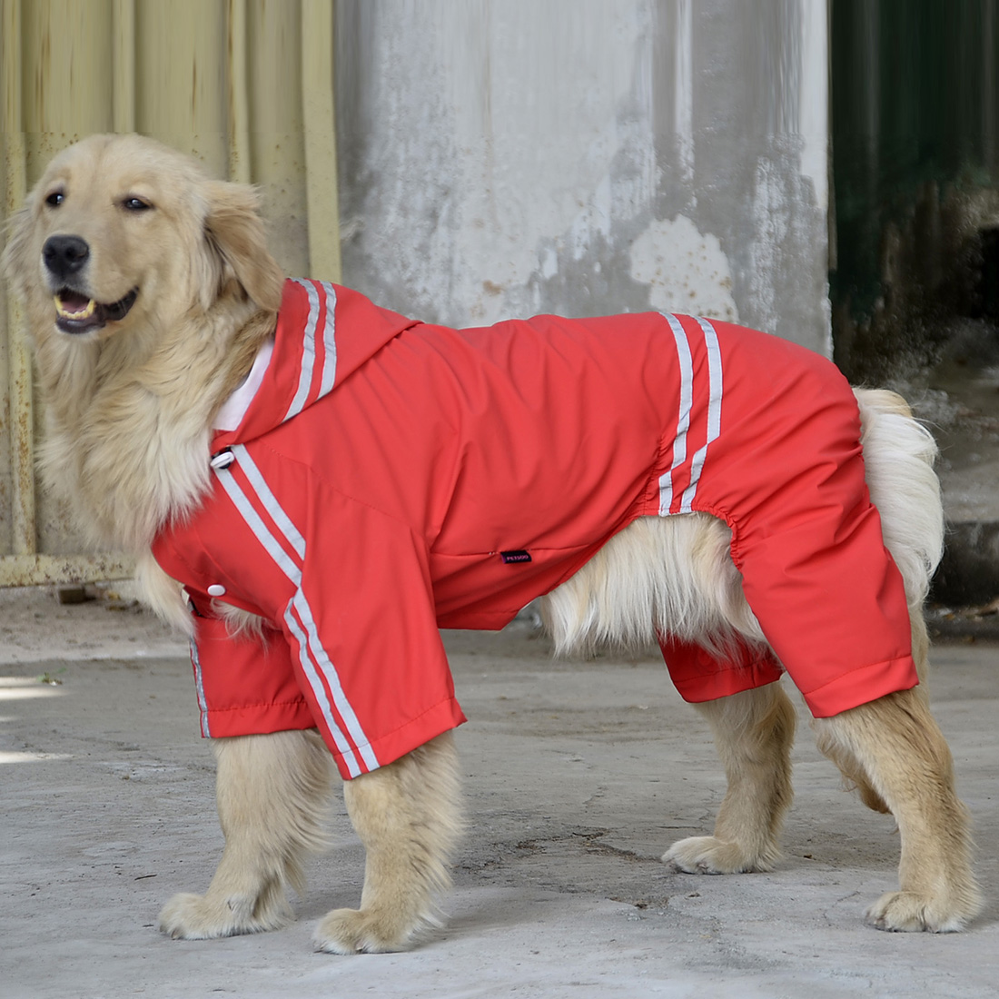 Raincoat For Dogs Waterproof Dog Coat Reflective Dog Raincoat Clothes For Large Dogs Labrador 3XL-7XL 4 Colors