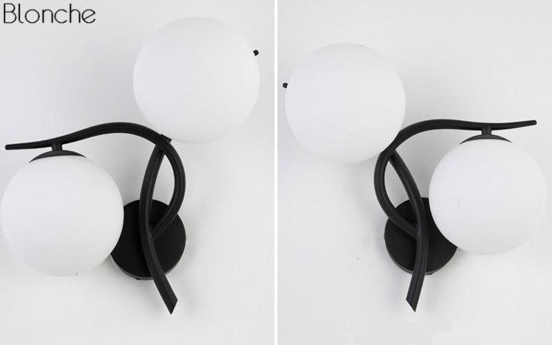 Bola de vidro moderna lâmpada parede led